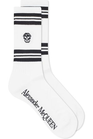 Alexander McQueen Sport Stripe Skull Sock