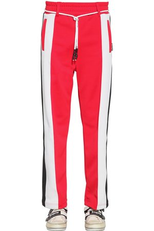 Palm Angels Logo Print Tech Jersey Track Pants