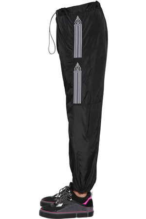 MARCELO BURLON County Tape Nylon Track Pants