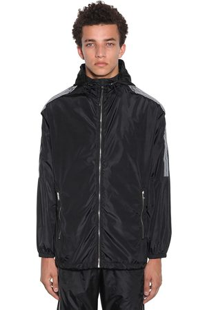 MARCELO BURLON County Tape Nylon Windbreaker
