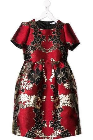 Dolce & Gabbana Girls Printed Dresses - Floral jacquard dress