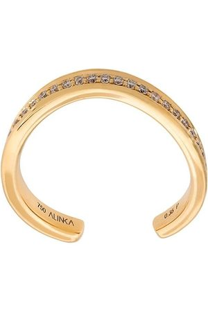 ALINKA TANIA' thumb ring diamond full surround - Metallic