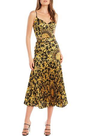 Bardot Women Printed Skirts - Women's Scarf Print Pleat Midi Skirt
