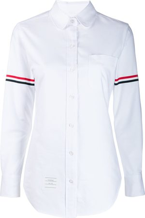 Thom Browne RWB-stripe long-sleeve shirt