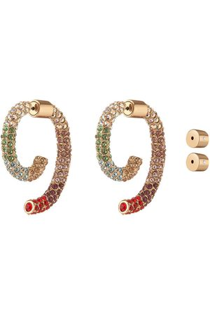 DEMARSON Pave Luna Earrings