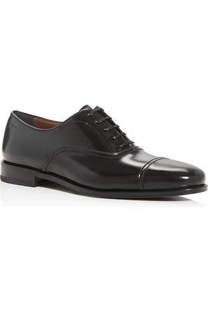 Salvatore Ferragamo Men's Seul Leather Cap-Toe Oxfords
