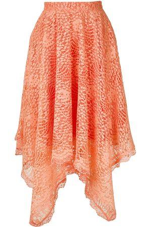Olympiah Women Asymmetrical Skirts - Petale lace skirt