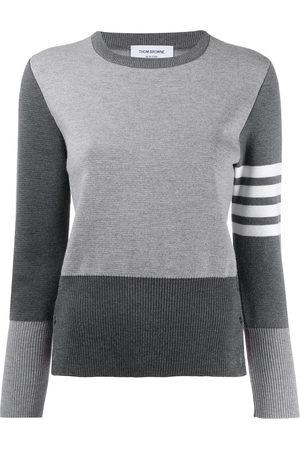 Thom Browne Women Sweaters - 4-Bar stripe jumper - Grey