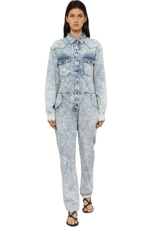Isabel Marant Idesia Bleached Cotton Denim Jumpsuit