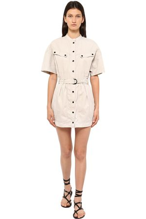 Isabel Marant Women Party Dresses - Zolina Light Canvas Mini Dress