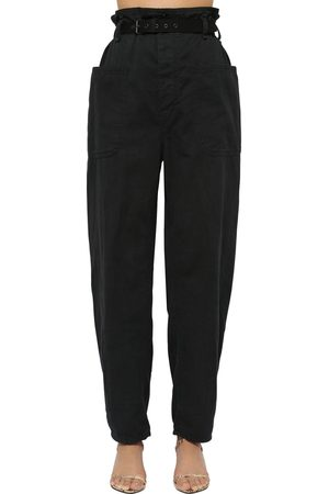 Isabel Marant Rinny High Waist Canvas Pants