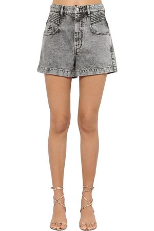 Isabel Marant Hiana High Waist Cotton Denim Shorts