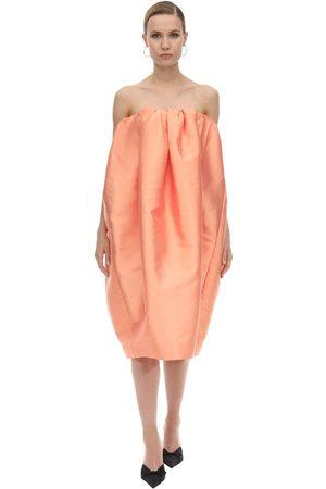 MARQUES'ALMEIDA Women Midi Dresses - Pleated Tube Corset Midi Dress