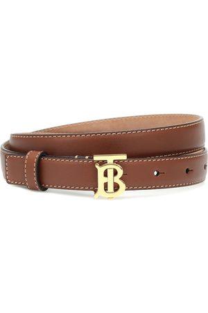 Burberry TB leather belt
