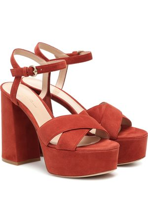 Gianvito Rossi Women Sandals - Suede platform sandals
