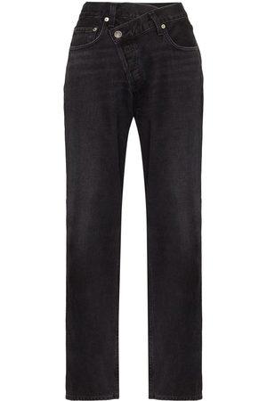 AGOLDE Criss-cross wide leg jeans