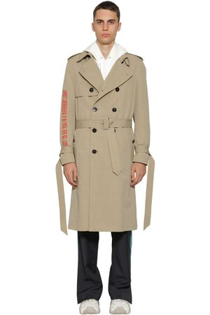 VALENTINO Double Breasted Cotton Trench Coat