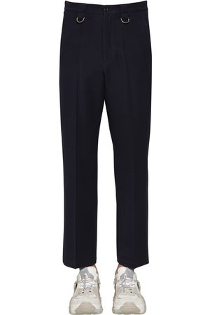 VALENTINO 24cm Virgin Wool Pants