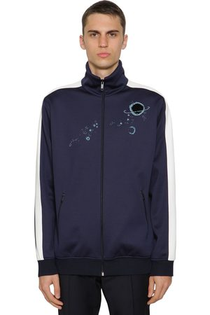 VALENTINO Embroidered Acetate Track Jacket