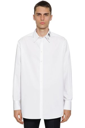 VALENTINO Men Shirts - Cotton Shirt W/ Eclipse Embroidery