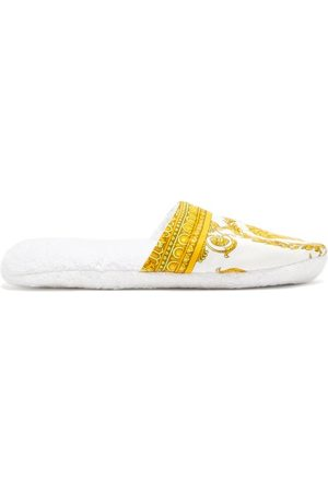 VERSACE Men Slippers - Barocco-print Cotton-terry Slippers - Mens