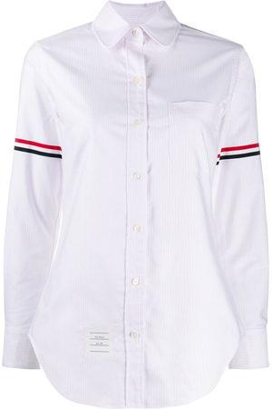 Thom Browne RWB-detail striped shirt