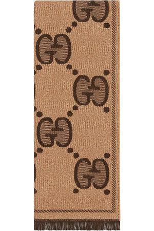 Gucci GG logo scarf - Neutrals