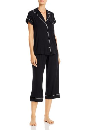 Eberjey Gisele Short Sleeve Crop Pajama Set