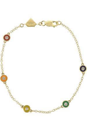 ALISON LOU Rainbow Enamel and Diamond Bracelet