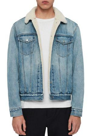 AllSaints Men's Ilkley Fleece Lined Denim Jacket
