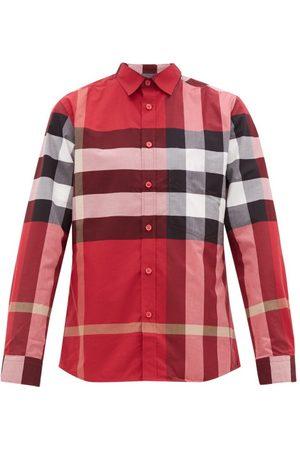 Burberry Men Casual - Somerton Nova-check Cotton-blend Poplin Shirt - Mens - Multi