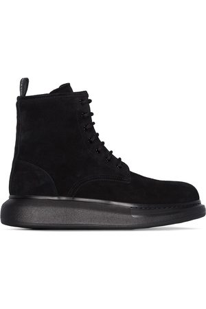 Alexander McQueen Men Ankle Boots - Hybrid lace-up ankle boots