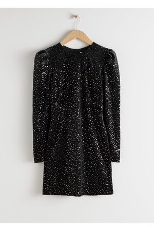 & OTHER STORIES Velvet Sequined Mini Dress