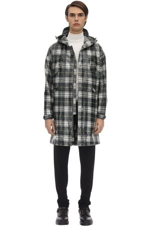 RAGLAN UNITED Check Coated Acrylic Blend Coat