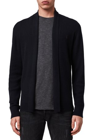 AllSaints Men's Mode Slim Fit Wool Cardigan