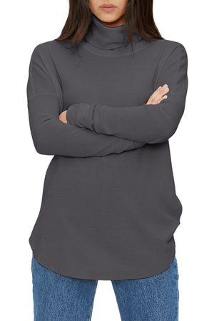MICHAEL STARS Women's Marcy Turtleneck Shirttail Top