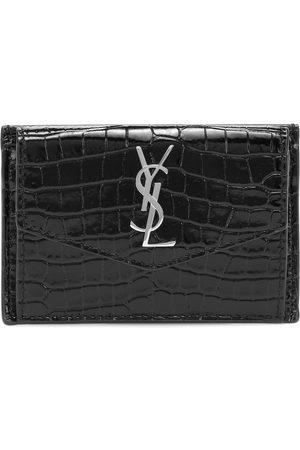 Saint Laurent Uptown croc-effect leather wallet
