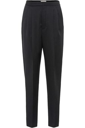 Saint Laurent High-rise virgin wool pants