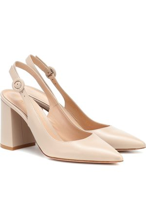 Gianvito Rossi Slingback leather pumps