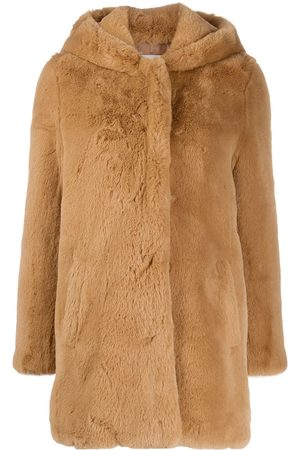 Sandro Honey faux fur coat - Neutrals