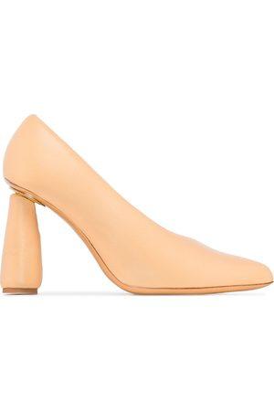 Jacquemus Women Heeled Pumps - Cone-heel slip-on pumps - Neutrals