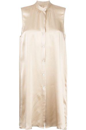 Voz Women Tank Tops - Sleeveless silk shirt