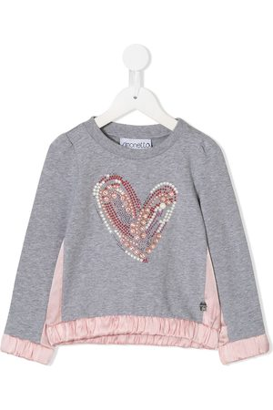 Simonetta Embellished heart sweatshirt - Grey