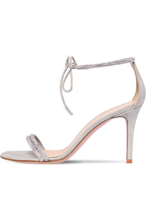 Gianvito Rossi 85mm Embellished Lamé Leather Sandals