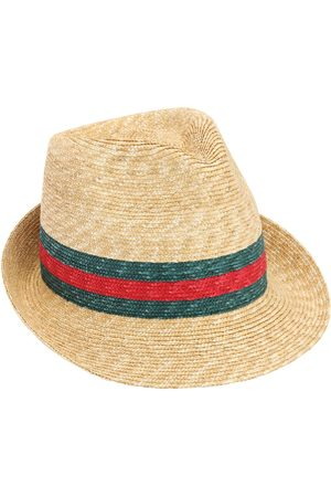 Gucci Women Hats - Web Raffia Bucket Hat