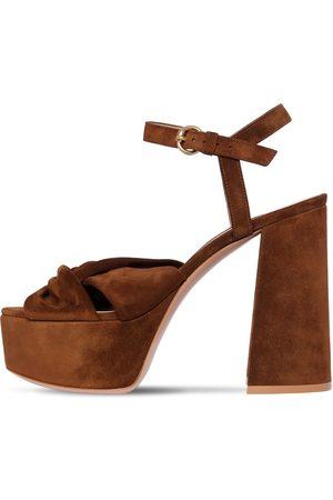 Gianvito Rossi 120mm Suede Platform Sandals