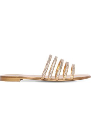 Giuseppe Zanotti 10mm Embellished Metallic Leather Sandal