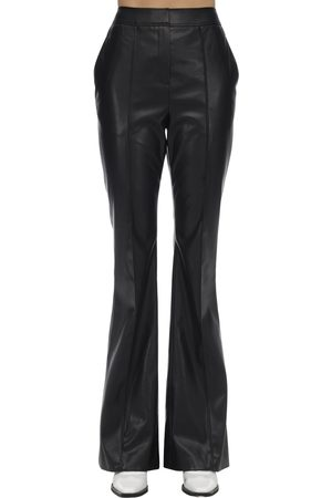 We11 Done Women Leather Pants - Flared Faux Leather Pants