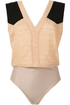 Olympiah Cirse panelled bodysuit - Neutrals