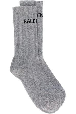 Balenciaga Logo print ankle socks - Grey